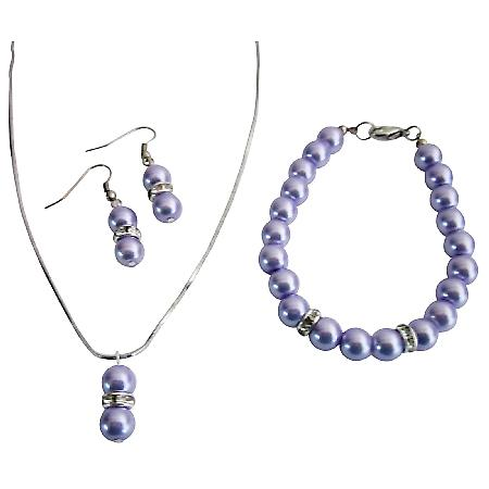 Shop Wedding At Reasonable Price Beautiful Lilac Pearls Jewelry