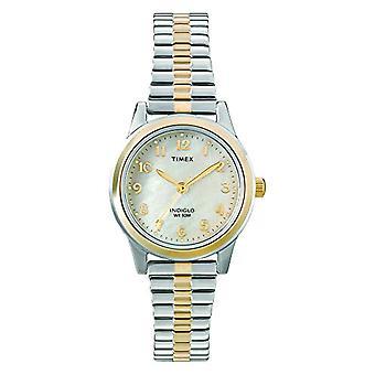 Timex féminin classique T2M828 stainless steel montre-bracelet analogique, multicolore