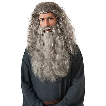 شعر مستعار واللحية لزي Gandalf