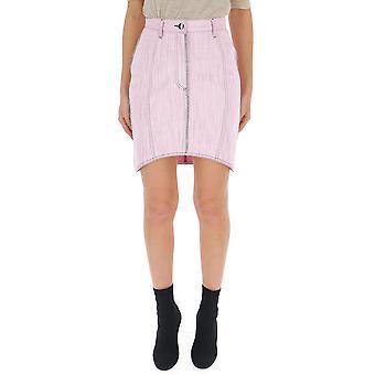 Marco De Vincenzo Pink Cotton Skirt