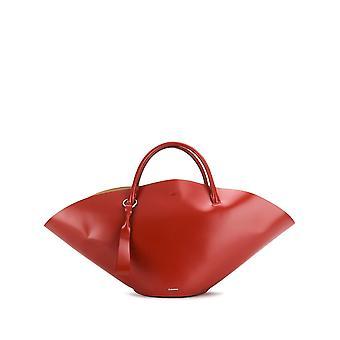 Jil Sander Sombrero Medium Red Leather Tote