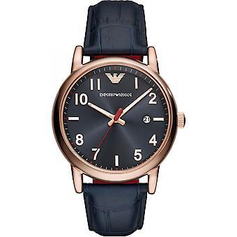 Emporio Armani męski mężczyźni różowe złoto sprawa nadgarstka zegarek AR11135
