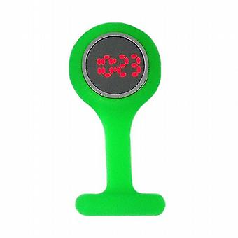 Boxx Led Digital Green Rubber Infection Control Nurses Fob Watch