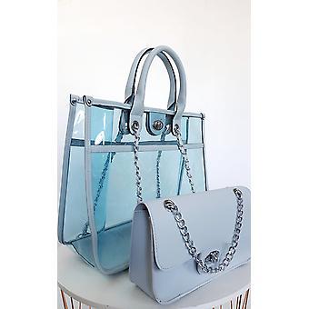IKRUSH Womens Leona Transparent TwoOne Tote Handbag