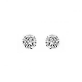 Eternity Sterling Silver Crystal Ball Stud Earrings
