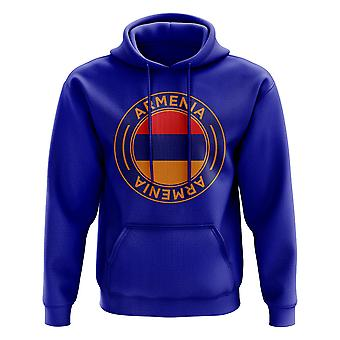 Armenia Football Badge Hoodie (Blue)
