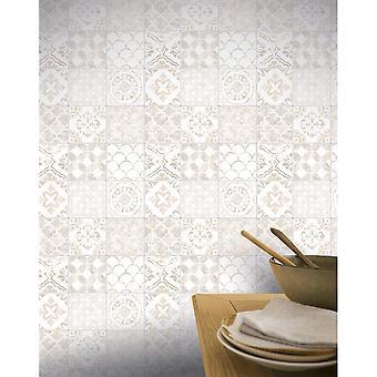 Arthouse Diamond tegel glitter vinyl Marokkaanse motief Shimmer effect behang 906003