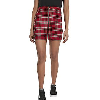 Urban Classics Ladies - TARTAN British Checker Skirt red