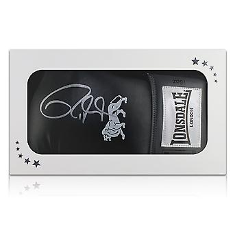 Roy Jones Junior Signed Black Boxing Glove In Gift Box