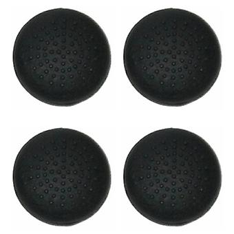 Convex dotted silicone thumbstick grips for ps3 controller thumb stick caps - 4 pack black