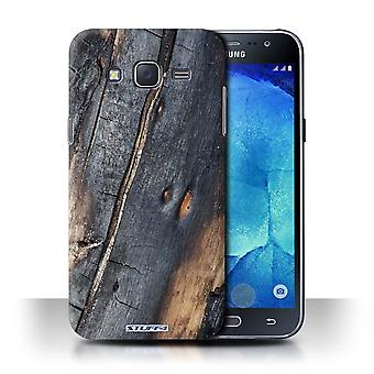STUFF4 Case/Cover for Samsung Galaxy J5/J500/Burnt Wood/Tree Bark