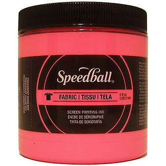 Speedball Fabric Screen Printing Ink Fluorescent 8oz-Hot Pink FSPIF8-4687