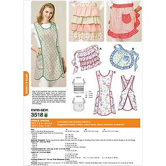 Aprons  View A And B: One Size   View C S  M  L Pattern K3518