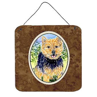Norwich Terrier Aluminium Metal Wall or Door Hanging Prints
