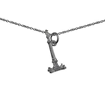 Silver 23x10mm Nelson's Column Pendant with a rolo Chain 14 inches Only Suitable for Children