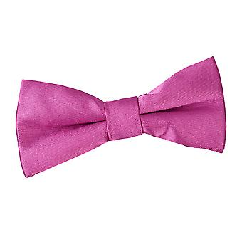 Boy's Mulberry Plain Satin Pre-Tied Bow Tie