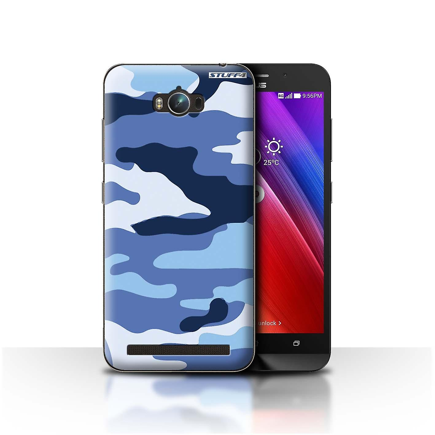 STUFF4 Case/Cover for Asus Zenfone Max ZC550KL/Blue 2/Camouflage Army Navy
