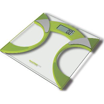 Salter Bathroom Scale analyzer, Line Colour, ultraslim, 160 Kg, Green
