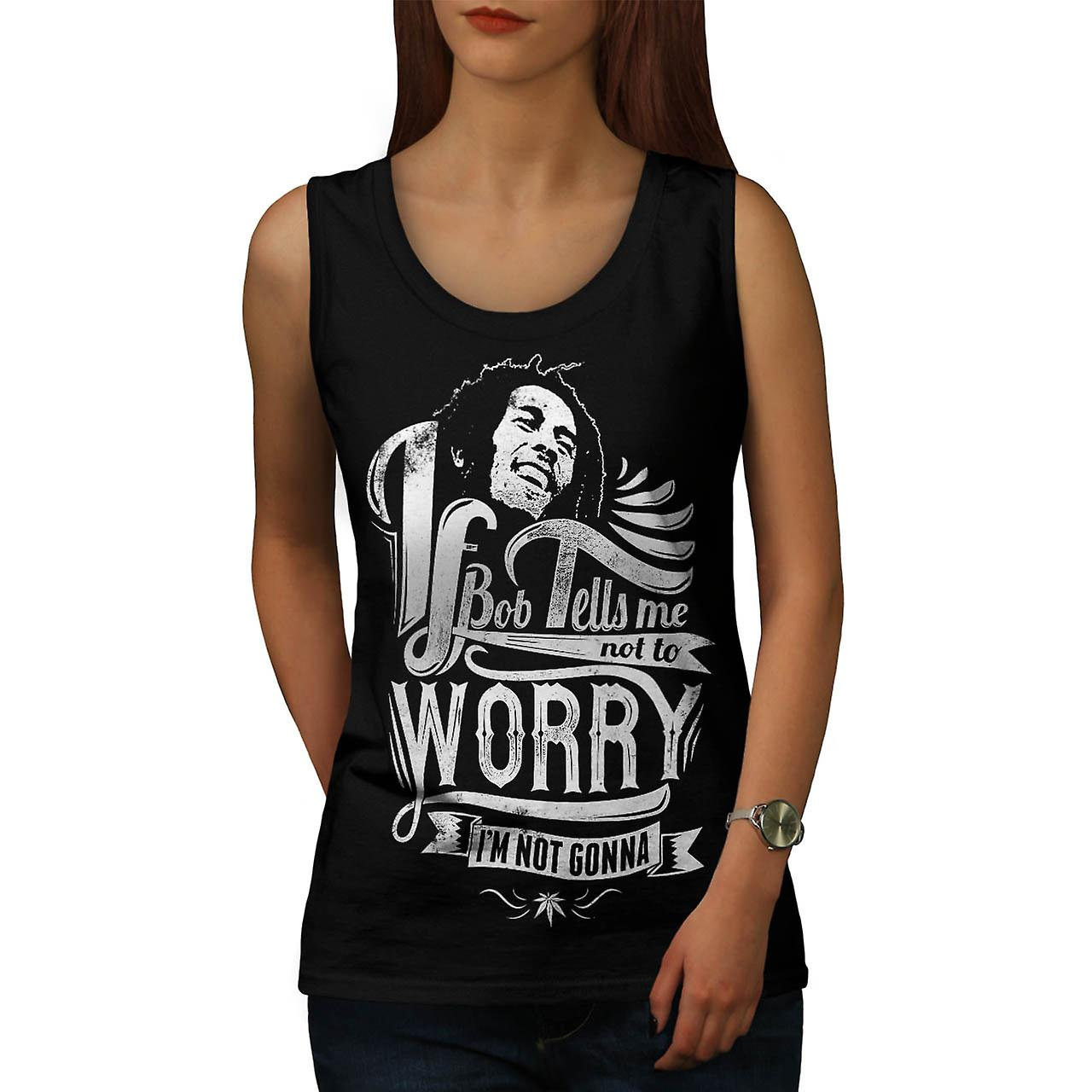 Bob Marley Dont Worry Women Black Tank Top | Wellcoda