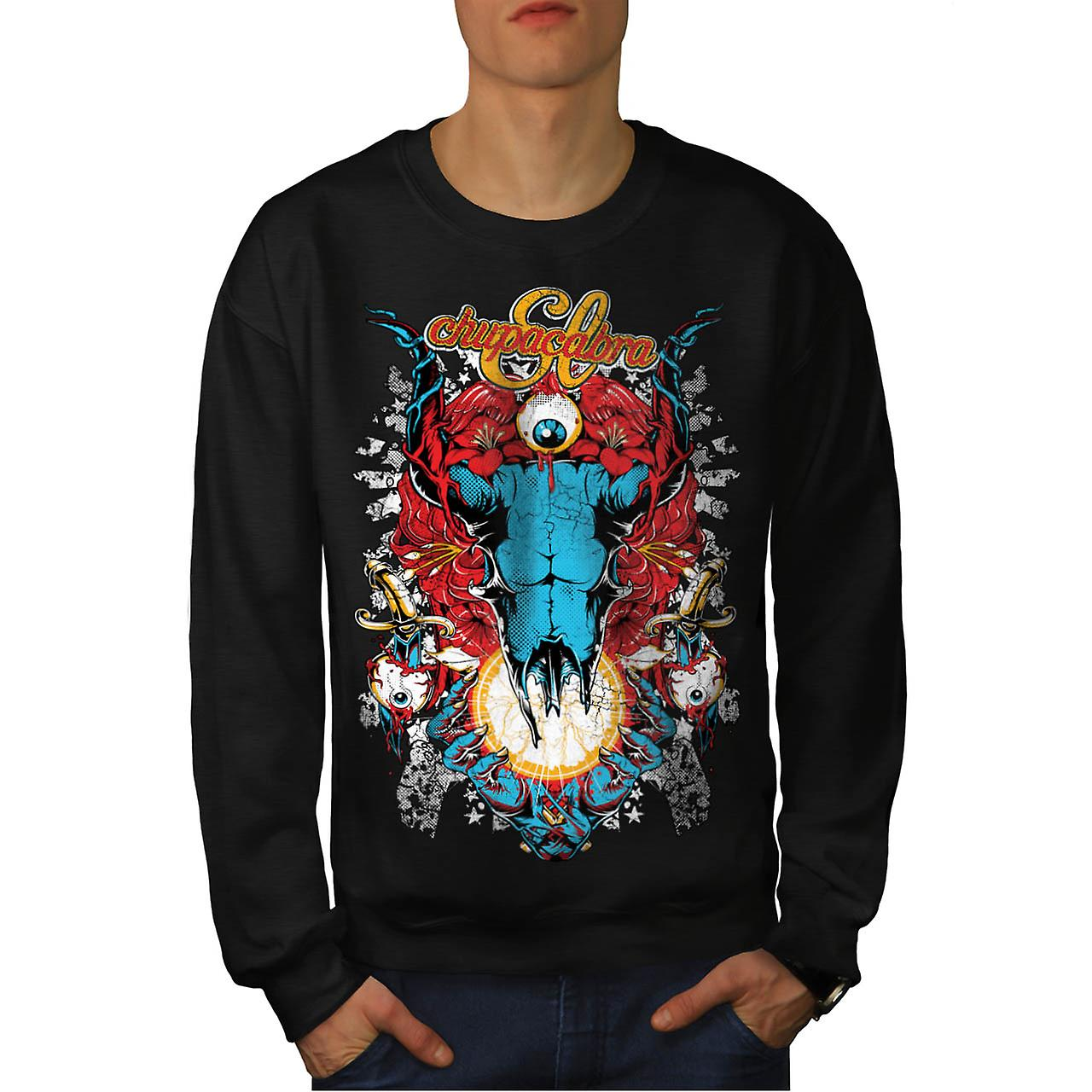 Chupacabra Demon Hell King Satan Men Black Sweatshirt | Wellcoda