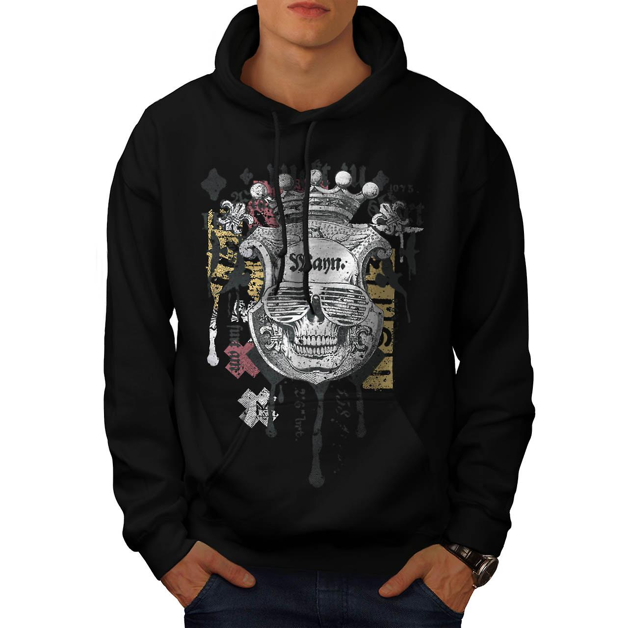 Man Royal Skull Team Swag Head Men Black Hoodie | Wellcoda