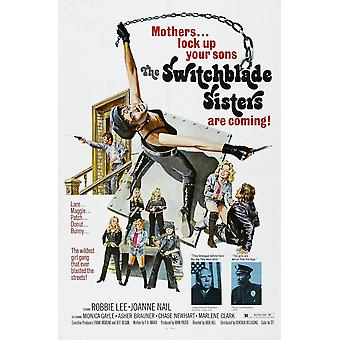 Switchblade hermanas nos cartel Monica Gayle Robbie Lee 1975 película cartel Masterprinter
