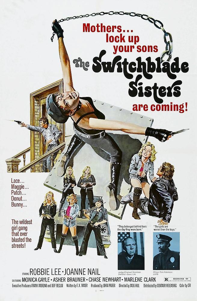 Switchblade Sisters Us Poster Monica Gayle Robbie Lee 1975 Movie Poster Masterprint