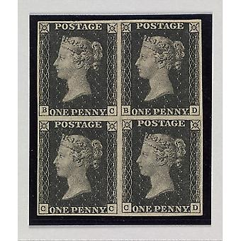 """Penny Black postage stamps Poster Print by After a design by William Wyon (British Birmingham 1795  """"1851 Brighton) (18 x 24)"""
