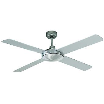 "Beacon Ceiling Fan Futura Chrome brushed / Silver 132 cm / 52"" with wall control"