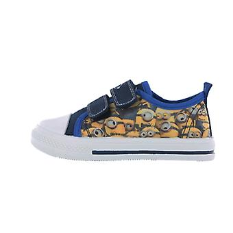 Boys Infant Minions Despicable Me Blue and Yellow Trainers Sizes Sizes 6 - 12