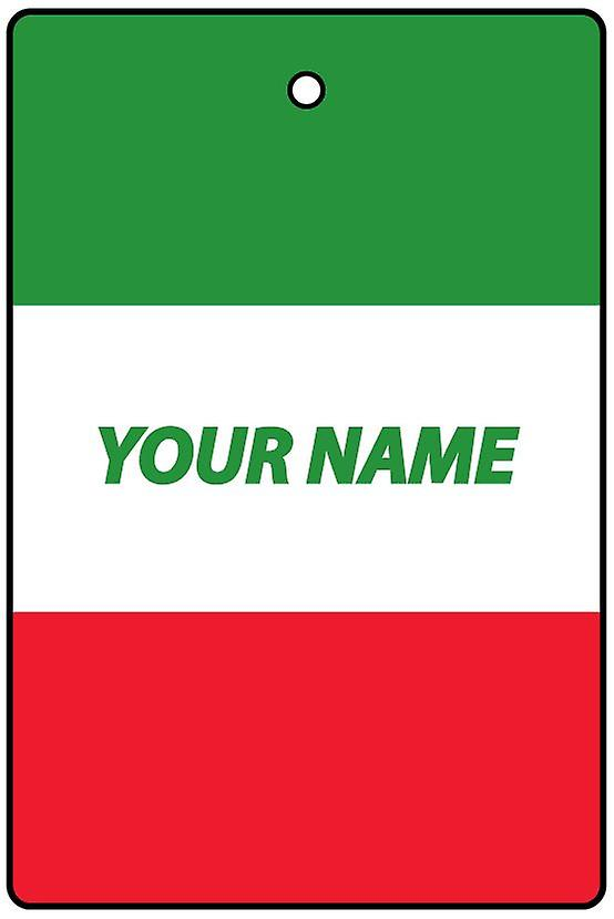 Italy Flag Personalised Car Air Freshener