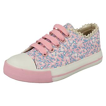 Girls Spot On Canvas Fashion Pumps