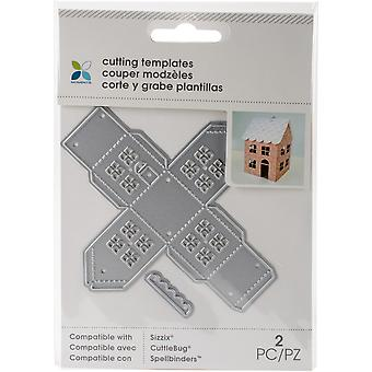 Momenta Die Cutting Templates-Small Mini House, 2pcs 28485