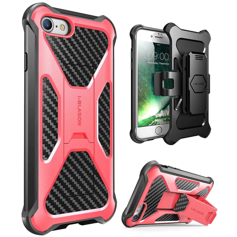 iPhone 7 Case-i-Blason-Transformer [Kickstand] Holster Case(Pink)