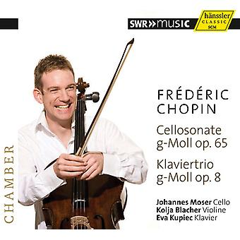 Chopin/Moser/Blacher/Kupiec - Cello Sonata & Pno Trio [CD] USA import