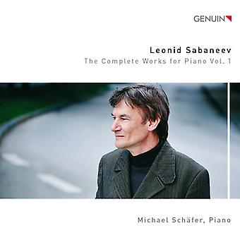 Sabaneev / Schafer, Michael - Sabaneev / Schafer, Michael: værker for klaver 1 [CD] USA import