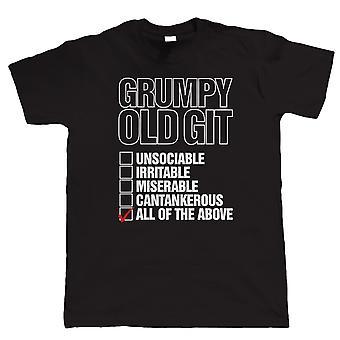 Git de vieux grincheux, drôle Mens T Shirt