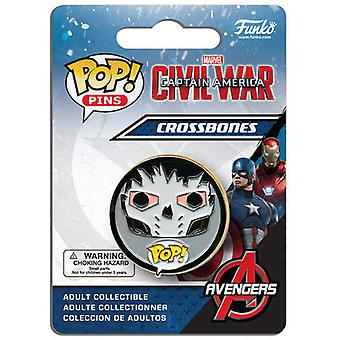 Funko Pop Pins: Civil War - Crossbones USA import