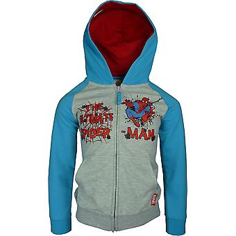 Jungen Marvel Spiderman Full Zip mit Kapuze | Sweatshirt