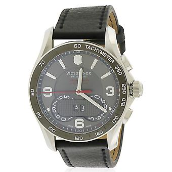 Swiss Army Victorinox Chronograph Leather Mens Watch 241616