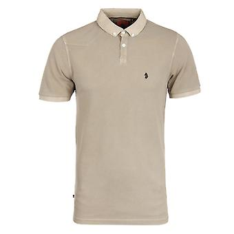 Luke 1977 Baskings Lux Sand Garment Dyed Pique Polo Shirt