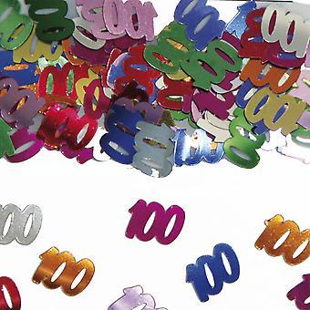 Tabell konfetti nummer 100 dekoration konfetti födelsedagsfest