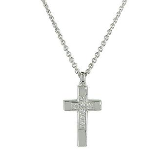 Fossil ladies chain necklace silver cross JFS00158040