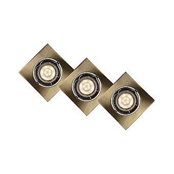 Lucide Kit Of 3 Square Bronze 5W LED Downlights