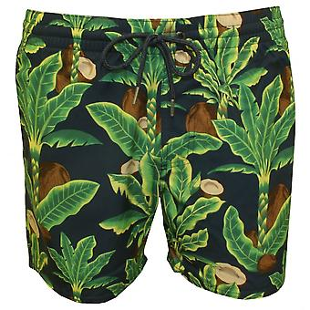 O'Neill Venturer Coconut Trees Print Swim Shorts, Green/Blue