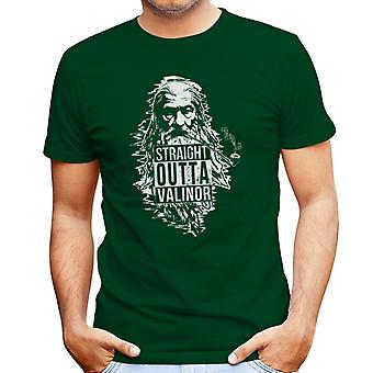 Straight Outta Valinor Gandalf Smoking Lord of the Rings Men's T-Shirt