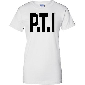 Licensed MOD -  PTI Physical Training Instructor - Text - Ladies T Shirt