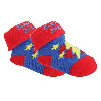 Baby Boys Cotton Rich Space Pattern Socks With Gift Pouch (Pack Of 2)