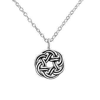 Celtic - 925 Sterling Silver Plain Necklaces - W32422X