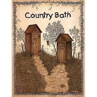 His and Hers Outhouses Poster Print by Linda Spivey (12 x 16)